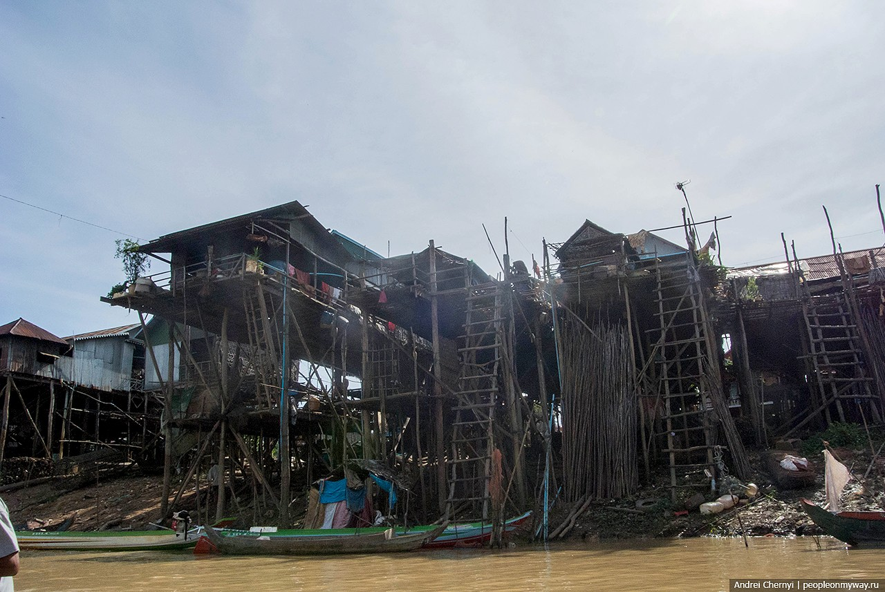 Waterworld. How do people live on the water in Cambodia.